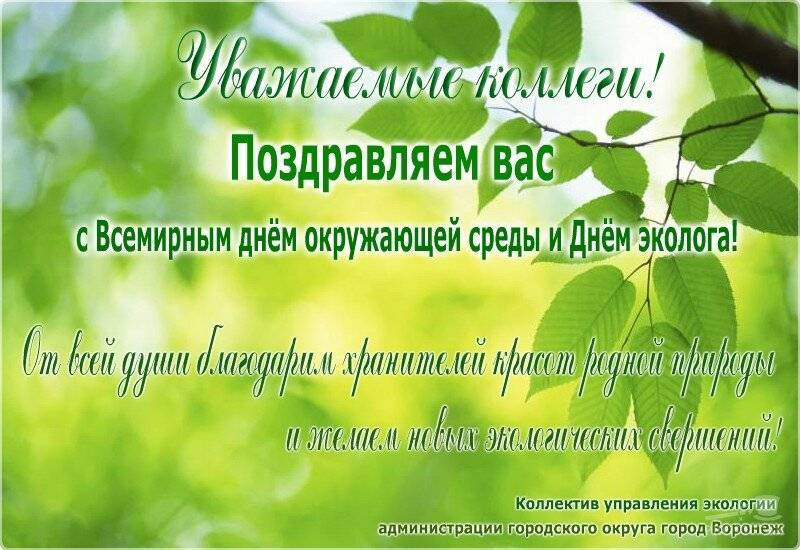 Поздравления с Днем эколога в стихах и прозе